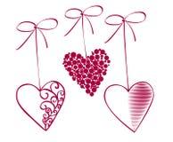 Curvas e corações ilustração royalty free