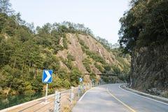 Curvas e ribeiro da estrada Foto de Stock