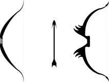 Curvas e seta ilustração stock