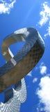 Curvas en el cielo Imágenes de archivo libres de regalías
