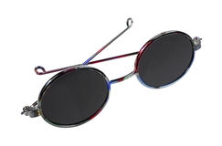 Curvas quadro escuras dos óculos de sol da boneca dobradas Imagens de Stock Royalty Free