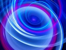 Curvas que brillan intensamente azules en espacio libre illustration