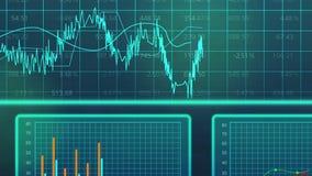 Curvas que mueven encendido el diagrama electrónico, presentación del análisis de datos estadísticos stock de ilustración