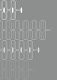 Curvas retros brancas no cinza ilustração stock