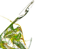 Curvas verdes Fotografia de Stock