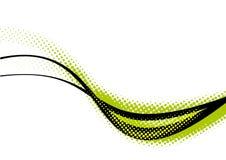 Curvas verdes y negras   Fotografía de archivo