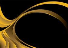 Curvatura d'angolo dorata illustrazione di stock