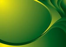 Curvatura d'angolo verde illustrazione vettoriale