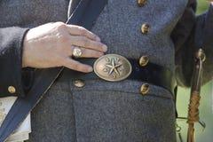 Curvatura da era da guerra civil e peça do uniforme Foto de Stock Royalty Free