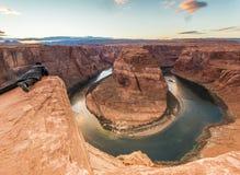 Curvatura da sapata do cavalo, página o Arizona Imagem de Stock Royalty Free