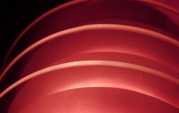 Curvatura de la luz roja Imagen de archivo libre de regalías