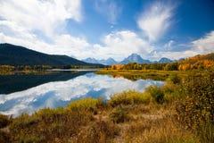 Curvatura de Oxbow - parque nacional grande de Teton Imagens de Stock Royalty Free