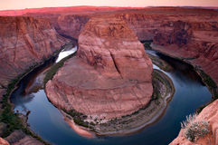 Curvatura del fiume di colorado fotografia stock