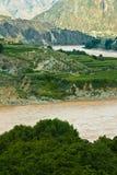 Curvatura del fiume di jinsha Immagini Stock