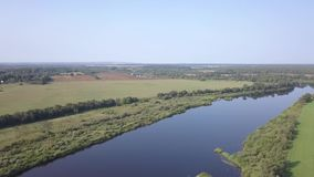 Curvatura del fiume occidentale di Dvina video d archivio