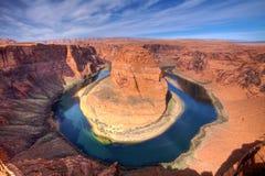 Curvatura del pattino del cavallo del grande canyon    Immagini Stock Libere da Diritti