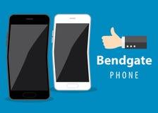 Curvatura del telefono cellulare royalty illustrazione gratis
