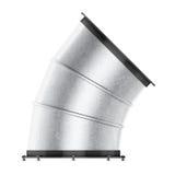 Curvatura della presa d'aria 45 gradi isolata su fondo bianco 3d si strappano royalty illustrazione gratis