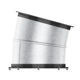 Curvatura della presa d'aria 15 gradi su fondo bianco 3d si strappano illustrazione di stock