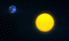 Curvatura di continuum di spazio-tempo royalty illustrazione gratis