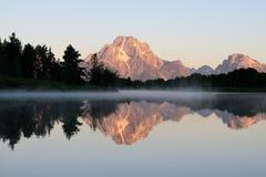 Curvatura di Oxbow, Wyoming (1) Fotografia Stock