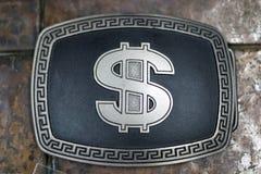Curvatura do dólar de prata Fotografia de Stock