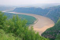 Curvatura do Rio Amarelo Qiankun imagens de stock