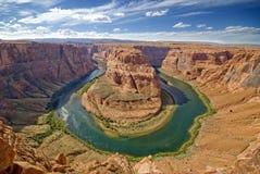 Curvatura em ferradura no Arizona EUA imagens de stock royalty free