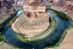 Curvatura em ferradura no Arizona EUA fotografia de stock royalty free