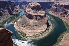 Curvatura a ferro di cavallo, Arizona Fotografie Stock Libere da Diritti
