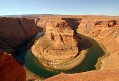 Curvatura a ferro di cavallo, fiume di colorado, Arizona Immagini Stock Libere da Diritti