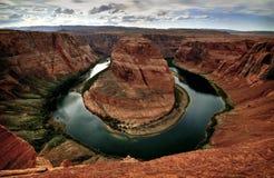 Curvatura a ferro di cavallo, fiume di colorado, Arizona Fotografia Stock