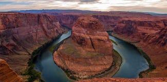 Curvatura a ferro di cavallo nel parco nazionale di Grand Canyon, Arizona, Stati Uniti d'America fotografie stock libere da diritti