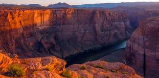 Curvatura a ferro di cavallo nel parco nazionale di Grand Canyon, Arizona, Stati Uniti d'America fotografia stock
