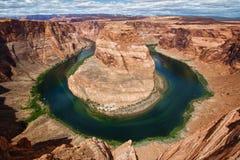 Curvatura a ferro di cavallo, Utah, S.U.A. Fotografia Stock Libera da Diritti