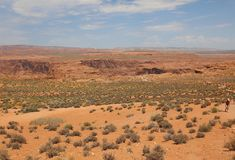 Curvatura a ferro di cavallo vicino alla pagina in Arizona U.S.A. Immagine Stock Libera da Diritti