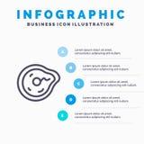 Curvatura, futuro, moto, paradosso, linea icona di fisica con il fondo di infographics di presentazione di 5 punti illustrazione di stock