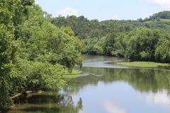 Curvatura ispiratrice del fiume Fotografia Stock