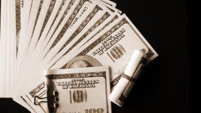 Curvatura, muito dinheiro 2 imagens de stock