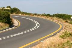 Curvatura na estrada Imagem de Stock Royalty Free