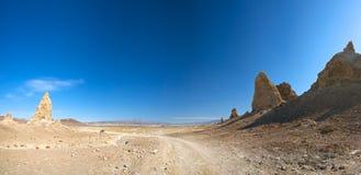 Curvatura na estrada do deserto Imagem de Stock Royalty Free