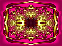 Curvatura ornamentado na cor ilustração do vetor