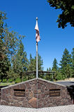 Curvatura pilota Oregon del cimitero del Butte Immagine Stock