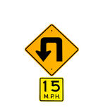 Curvatura Roadsign Imagem de Stock