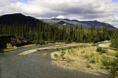 Curvatura selvaggia del fiume Fotografie Stock Libere da Diritti