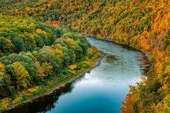 Curvatura superiore del fiume Delaware Fotografie Stock Libere da Diritti
