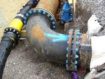 Curvatura terrestre dell'angolo del tubo Fotografia Stock