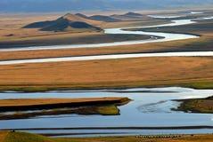 Curvaturas do rio Fotografia de Stock
