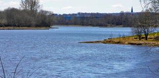 Curvaturas do rio fotos de stock