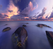 Curvature del mare Fotografia Stock Libera da Diritti